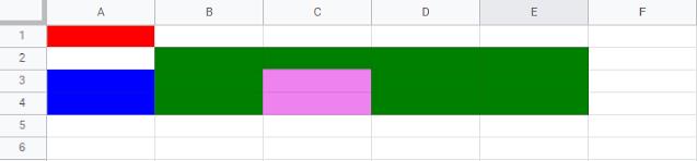 Como setear color de celdas con Google Apps Script