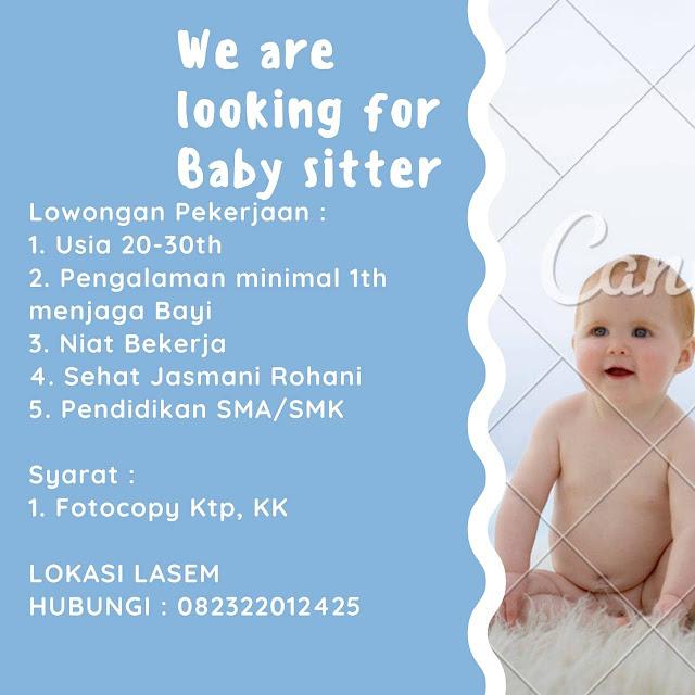Lowongan Kerja Baby Sitter Lasem Rembang