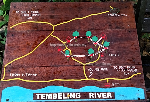 Map of Taman Negara Canopy Walk
