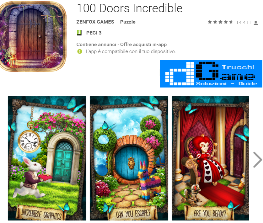 Soluzioni 100 Doors Incredible livello 141 142 143 144 145 146 147 148 149 150 | Trucchi e  Walkthrough level
