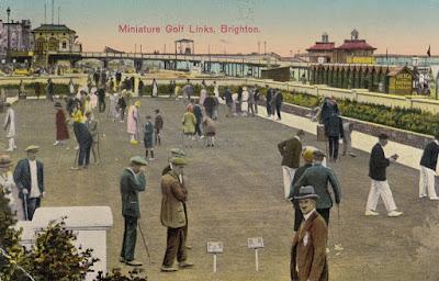 Miniature Golf Links, Brighton. Postally used 29 August 1927