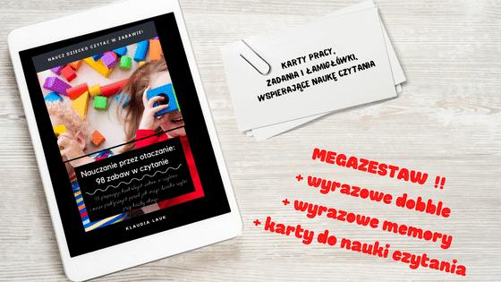 nauka czytania dla dzieci - zabawy w czytanie globalne i metoda domana e-book