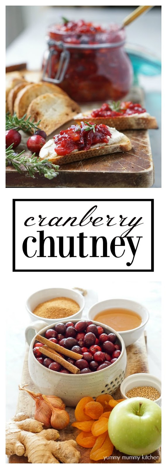 This beautiful cranberry chutney recipe is a delicious alternative to cranberry sauce. It's perfect on everything from crostini to cheese boards to Buddha bowls! Cranberry chutney also makes a great DIY gift!