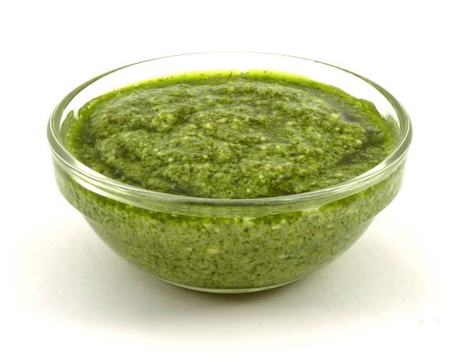 Homemade Green Chilli Sauce.