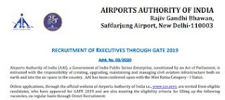 Airports Authority of India (AAI) recruitment 2020, jobs at Online for Manager and Junior Executive