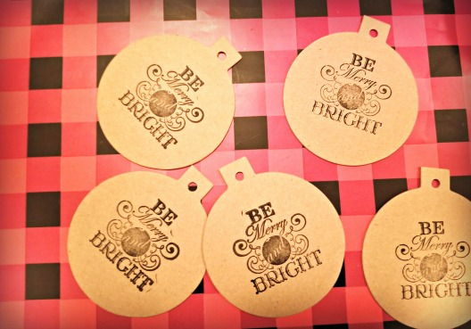 be merry and bright stamped tags
