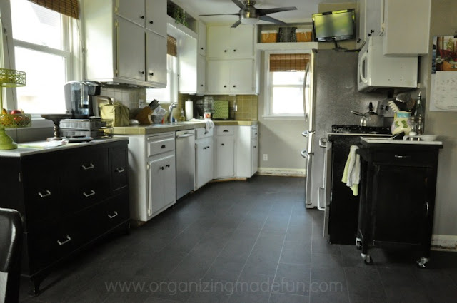 Kitchen without enough counter space :: OrganizingMadeFun.com