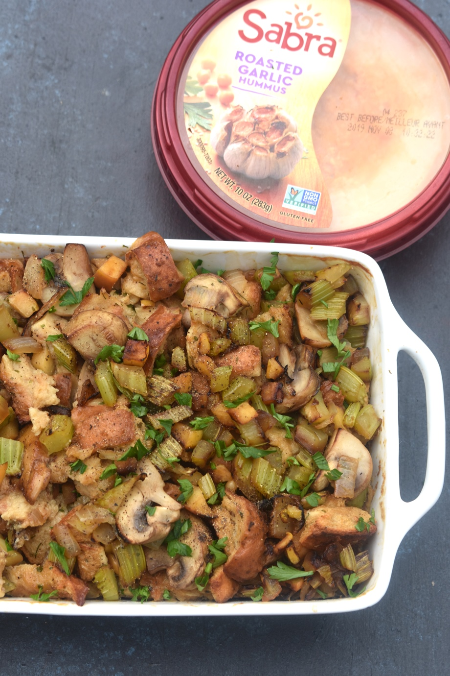stuffing with hummus
