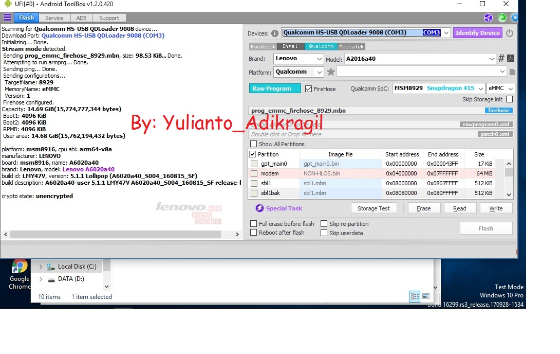 Firmware Lenovo Vibe K5 A6020a40 Backup UfiBox [Tested