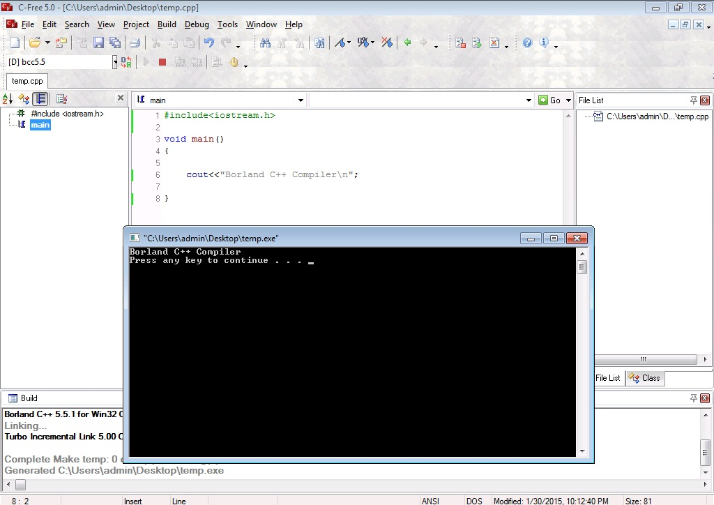 free c++ programming software for windows 7
