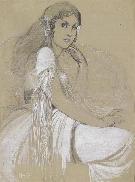 Альфонс Муха - Ярослава Муха, дочь художника