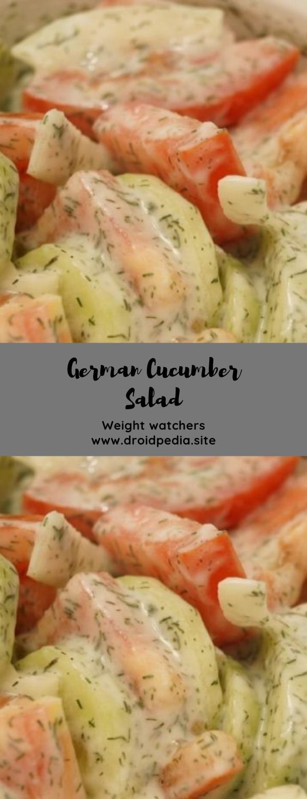 Weight Watchers German Cucumber Salad #salad #healthy #weightwatchers