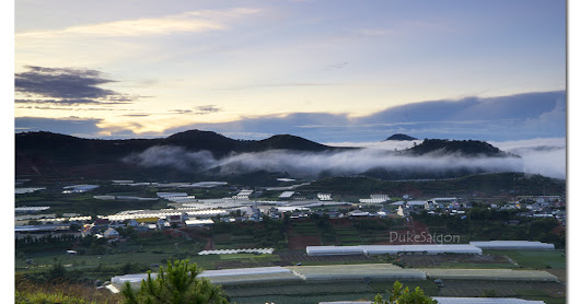 Da Lat - A view from a hill in Lac Duong District
