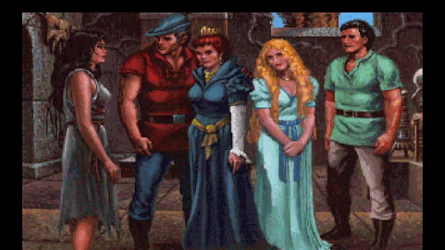 Screenshot of King Graham's family from King's Quest V