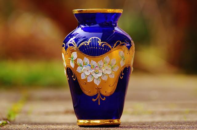 niebieski wazon grecki