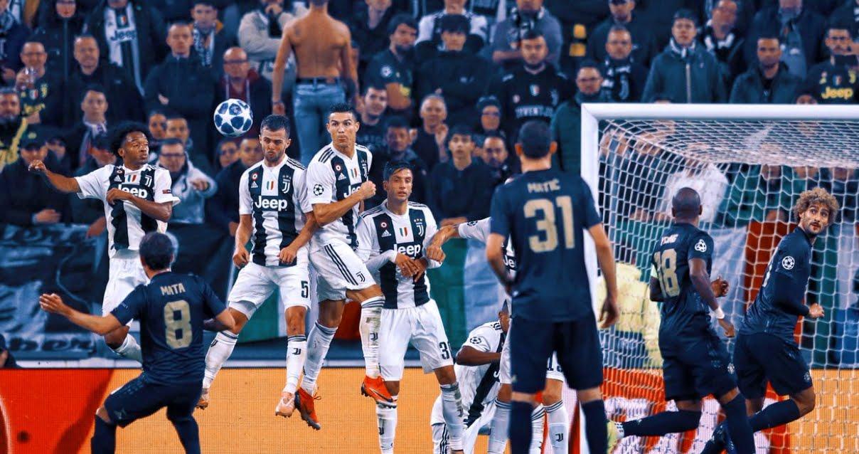 Incredibile Juventus-Manchester United 1-2 dopo meraviglioso gol di CR7 Cristiano Ronaldo.