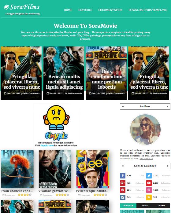 SoraFilms Blogger Templates Free Download