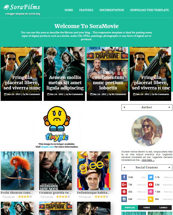 Sora Films Blogger Templates Free Download | SoraFilms Blogger Theme Download