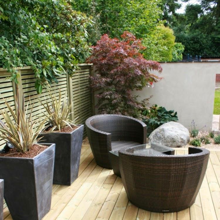 Modern Garden Design Examples - Planters As Accent | Houzz ...