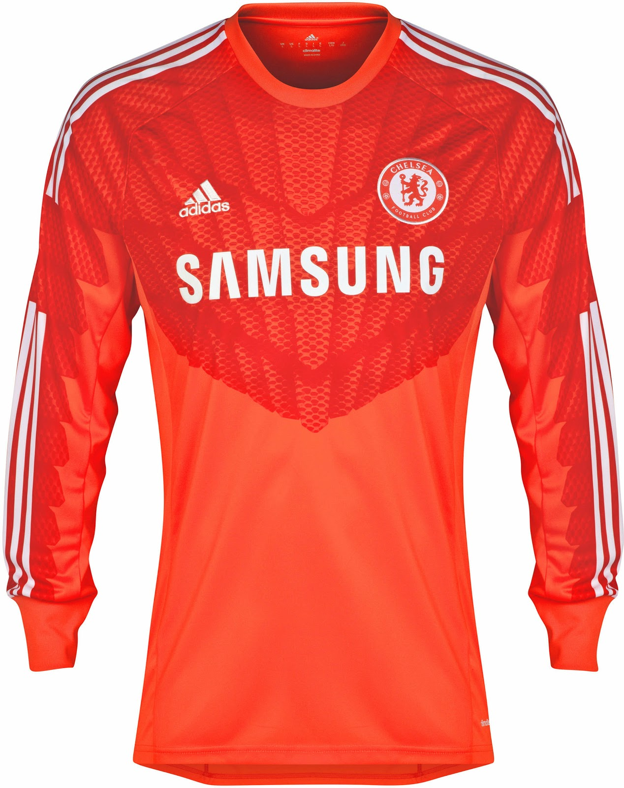 41957bf50 While the new Chelsea 14-15 Goalkeeper Kit features the unusual color red    orange