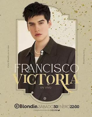 Francisco Victoria se presentará en un concierto en línea desde Blondie