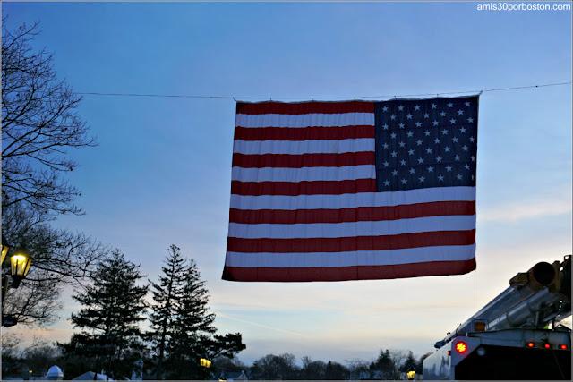 Bandera de Estados Unidos en Plymouth