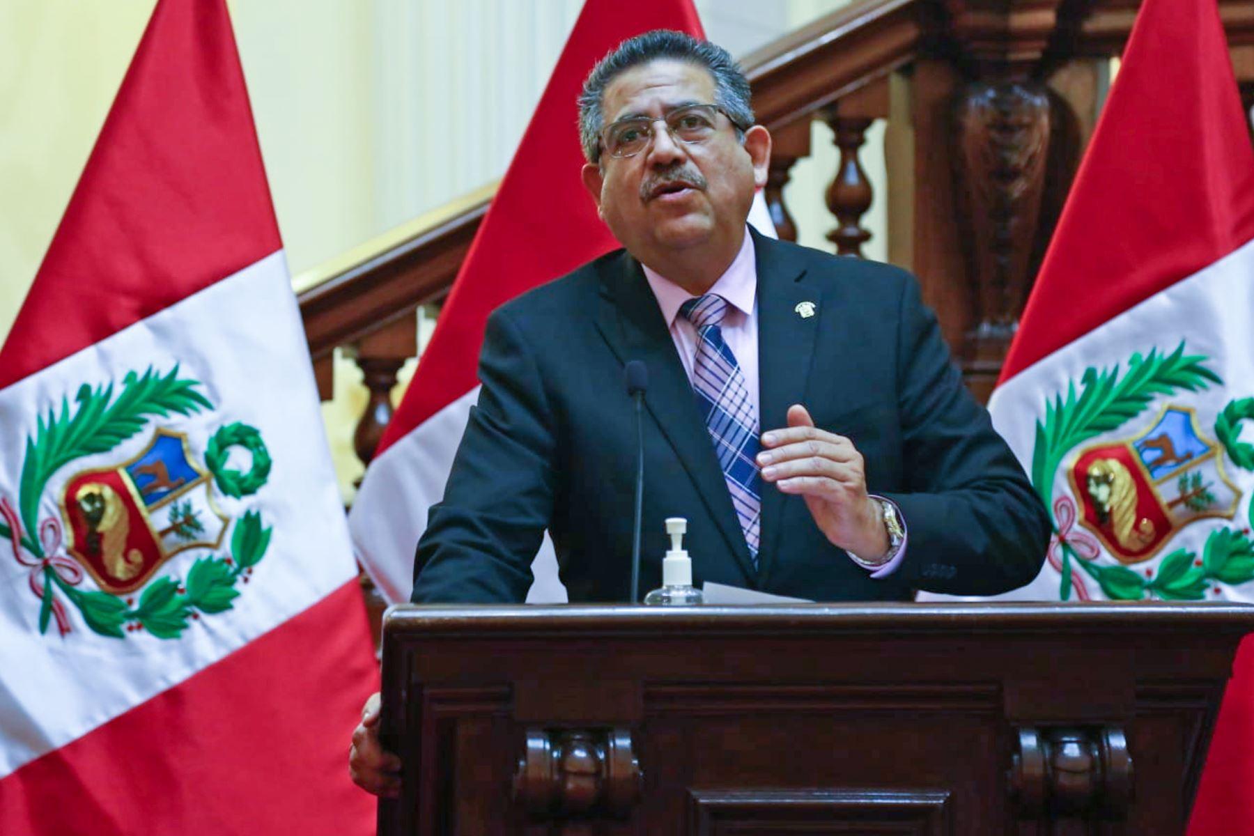 Manuel Merino jurara hoy como presidente del Peru