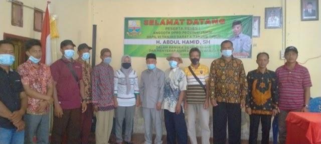 Dewan Provinsi Jambi Fraksi PKB, Abdul Hamid Serap Aspirasi Warga Senyerang