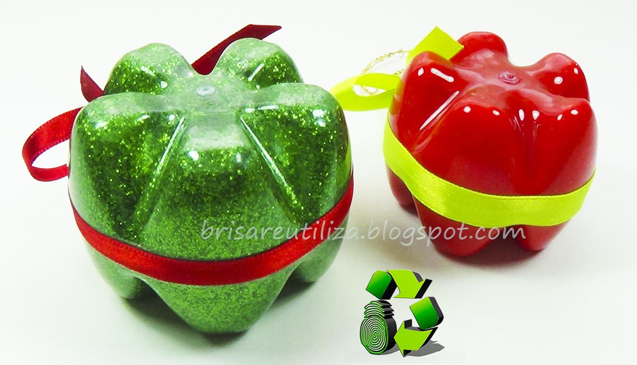 Ecobrisa manualidades reciclaje de botellas de pl stico for Adornos navidenos hechos con botellas plasticas