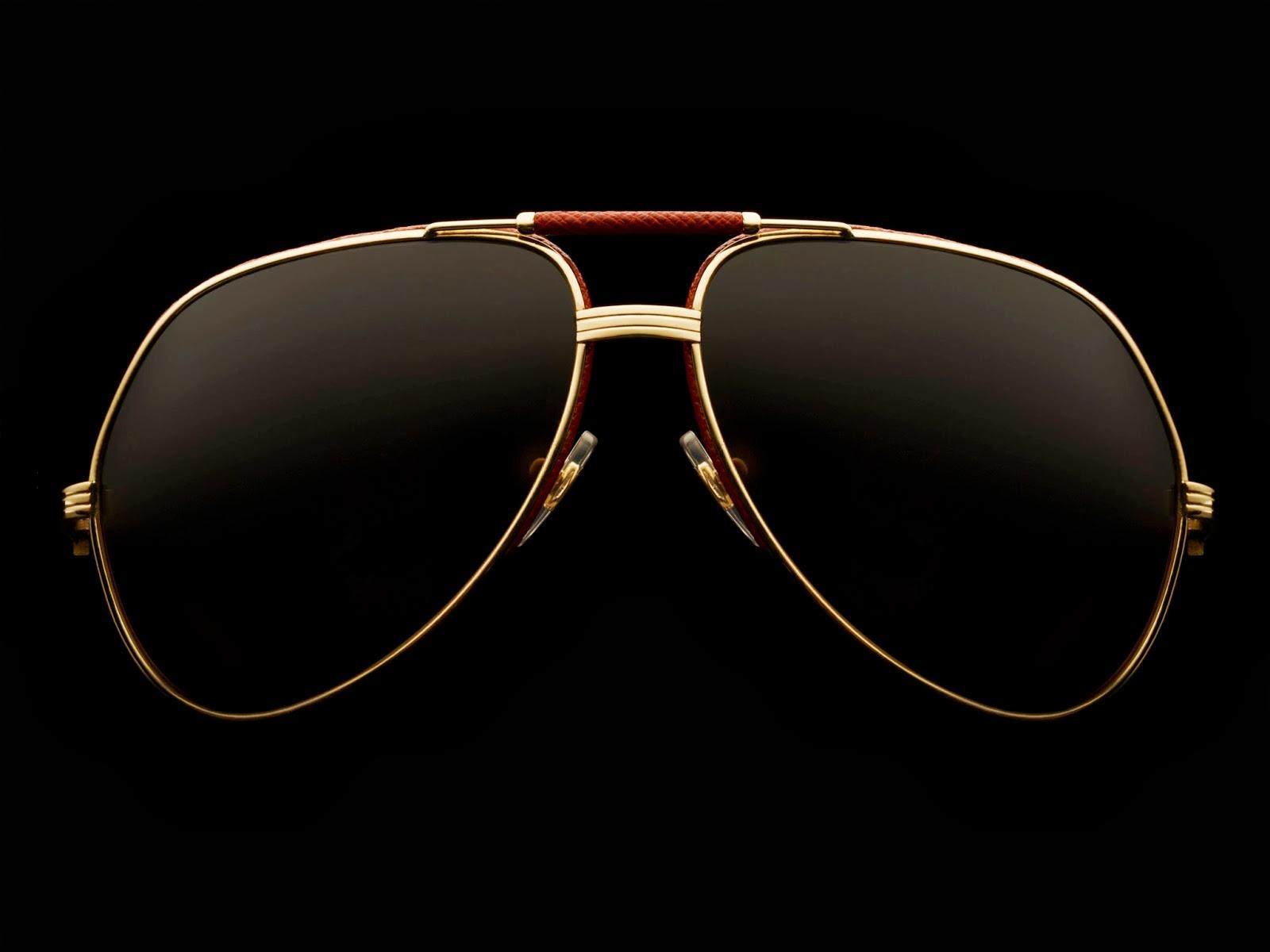579b93ce296d45 Cartier Aviator Sunglasses Gold