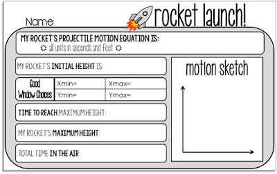 Projectile Motion warm up template