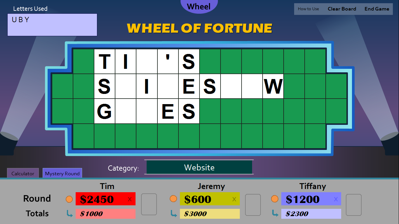 Tim 39 s slideshow games wheel of fortune for powerpoint for Wheel of fortune board template