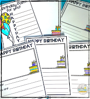 Help your students feel special on their birthday with a class created book that they can keep for years to come. Students will sharpen their letter writing skills as they write about each birthday student and why he/she is special. These books are easy to create, easy to assemble, and are sure to be treasured by both students and parents!