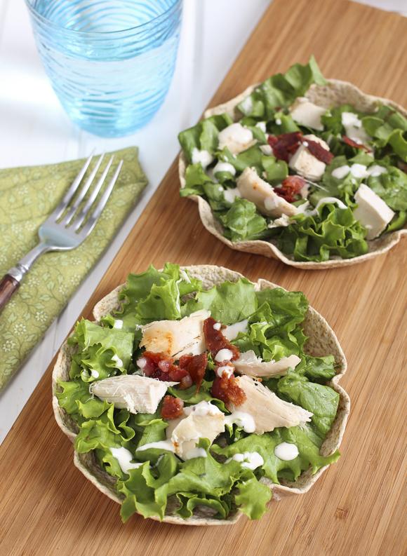 chicken ceasar salad bowl