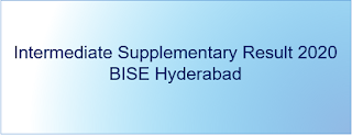 Intermediate Supplementary Result 2020 BISE Hyderabad