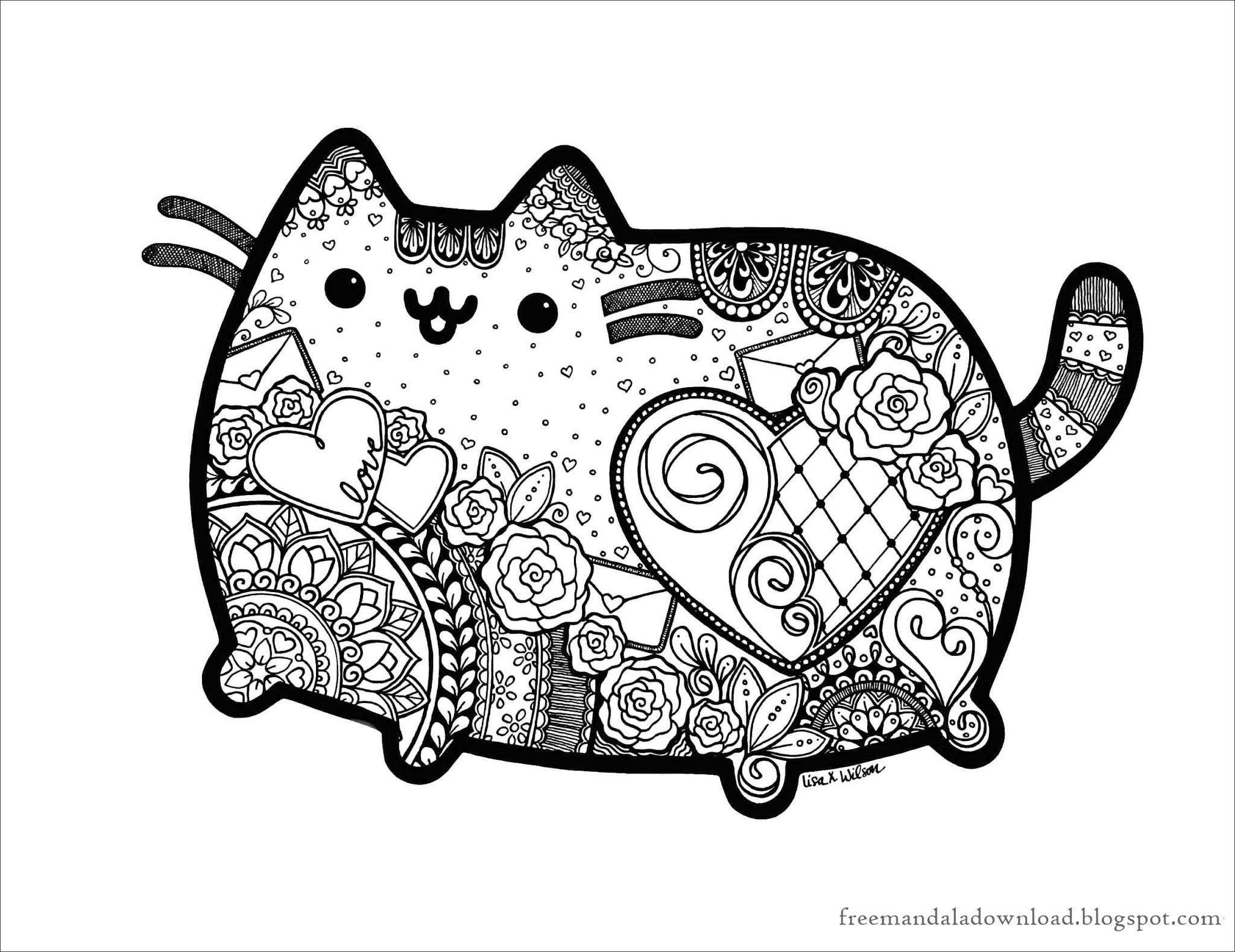 katzen mandala malbuch pdf-cats mandala coloring book pdf