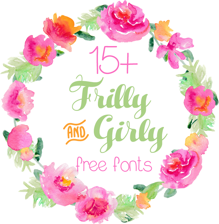 These 15+ free frilly and girly fonts are perfect for invitations, crafts, and so much more.