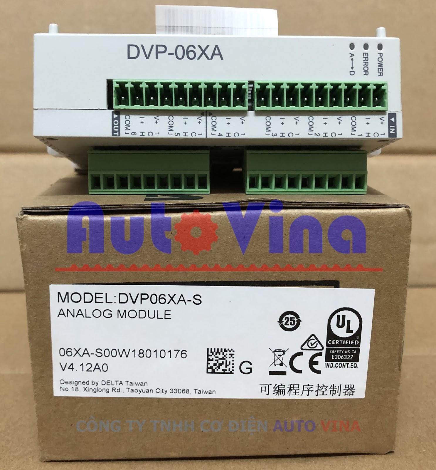 Đại lý bán module analog PLC Delta DVP06XA--S 4 ngõ vào analog và 2 ngõ ra analog
