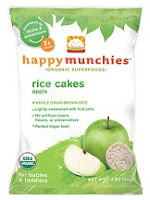 Happy Munchies apple rice cakes