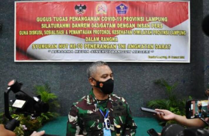 Hut ke-70 Dispenad  dan Silaturahmi Danrem 043/Gatam dengan insan pers