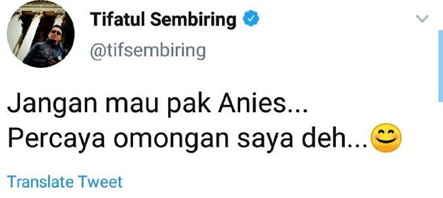 Nasihati Anies Baswedan Agar Tolak Prabowo Subianto di Pilpres 2024