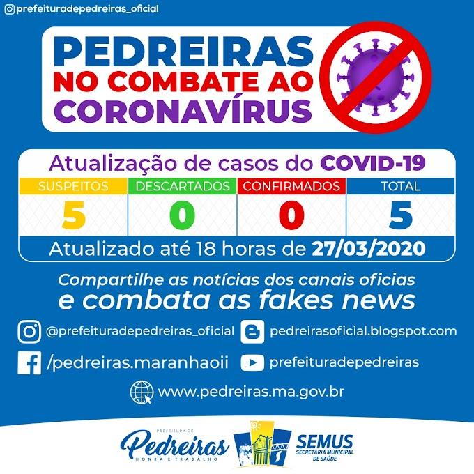 Pedreiras: secretaria de saúde confirma mais dois casos suspeitos de Coronavirus, (covid-19) na cidade..........