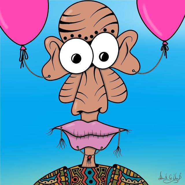 piercing pierced pierced body art balloon tribal clothes colorful cute
