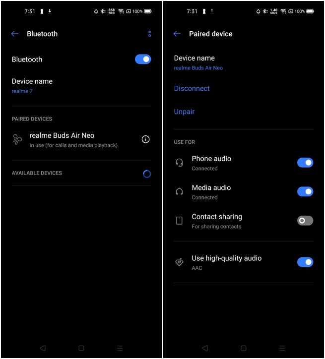realme Buds Air Neo Bluetooth Pairing