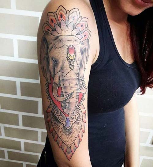 fil kadın kol dövmeleri elephant arm tattoo for woman
