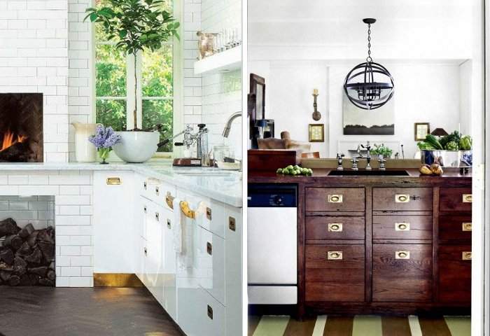 Peonies Brass Brass Obsessed Hardware Styles For The Kitchen