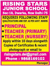 Rising Stars Junior School Wanted Principal/Teachers