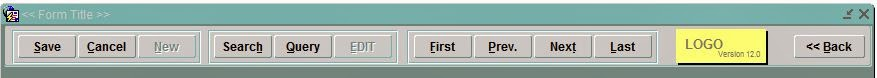 Horizontal Toolbar With Navigational Buttons Form Sample For Oracle Forms 10g/11g