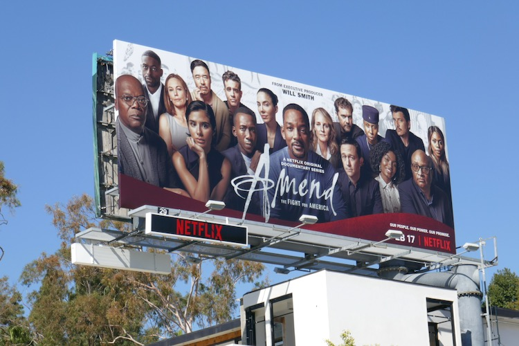 Amend Fight for America launch billboard