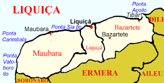 Map of the district of Likisa Timor-Leste